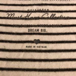 Hollister T-shirt, Sz XS. White w/ black stripes.